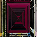 Henrik Placht: Eye of the rose/magenta (Baguette cut), 2007, 150 x 110 cm