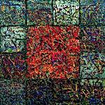 Inge Jensen: Minne, 2002, 160 x 160 cm