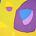 Johs. Rian: Jaune, 1965, 91 x 73 cm