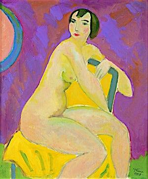 Johs. Rian, Kvinneakt, 1948, 55 x 45 cm