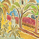 Johs. Rian: Le jardin Renoir, Gagnes, 1950, 40 x 50 cm