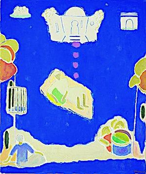 Johs. Rian: Medina Tanger, 1958, 90 x 76 cm