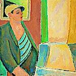 Johs. Rian: Sjømann, 1947, 87 x 100 cm