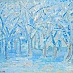 Johs. Rian: Blå skog, 1920, 62 x 76 cm