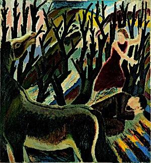 Johs. Rian, Antajos, 1934, 131 x 121 cm