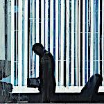 Kenneth Blom: Hvite striper II, 2012, 100 x 120 cm