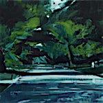Kenneth Blom: Park II, 2012, 120 x 130 cm