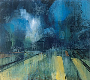 Kenneth Blom, paysage de Champagne, 2001, 150 x 170 cm