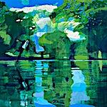 Kenneth Blom: The Pond, 2020, 170 x 190 cm