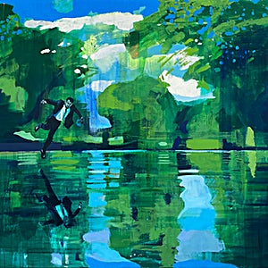 Kenneth Blom: The Pond, 2020, 170 x 190 cm