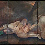 Knut Rose: Tre-delt, 1996, 150 x 73 cm
