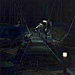 Marius Engstrøm: Nattevandring, 2012, 150 x 130 cm