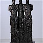 Nico Widerberg: Tre mennesker, 2010, 196 x 100 cm
