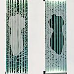 Nico Widerberg: Siluett kvinne/mann, 2003, 225 x 61 cm