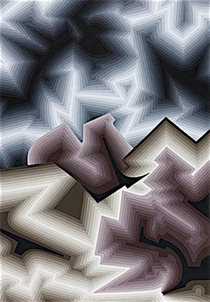 Ole Jørgen Ness: Template of Qualia, 2014, 102 x 71,5 cm