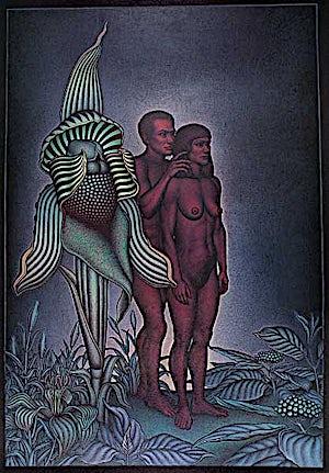 Ole Rinnan, En forutanelse, 1993, 295 x 209 cm