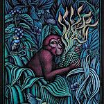 Ole Rinnan: Her hvor alt er mat og fruktene vidunderlige der de brenner med sine røde og turkise flammer, 1997, 158 x 120 cm