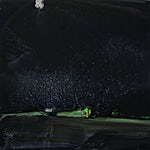Olivier Debré: Lysne noir, 1974, 100 x 100 cm