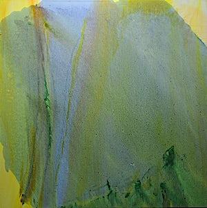 Olivier Debré, La montagne verte Lærdal, 1990, 180 x 180 cm