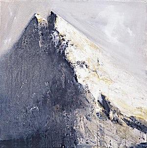 Ørnulf Opdahl, Fjellet Ramoen, 2001, 80 x 80 cm