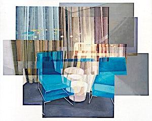 Øystein Tømmerås, Volum 3.i (dobbel-stol-og-kledelig-sen-kveld-mix), 2011, 120 x 150 cm