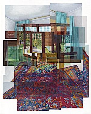 Øystein Tømmerås, Volum 3.k (rytmisk-gulvteppe-med-slumrende-morgen-utenfor-mix), 2011, 150 x 120 cm