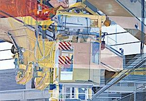 Øystein Tømmerås, Nr 8. (ovnshall-horisontal-vertikal-dobbeleksponering), 2014, 90 x 130 cm