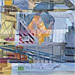 Øystein Tømmerås: Nr 10. (ovnshall-horisontal-vertikal-dobbeleksponering), 2014, 90 x 130 cm