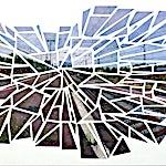 Øystein Tømmerås: Nr 7. (kassel-stasjon-mosaic), 2013, 90 x 150 cm