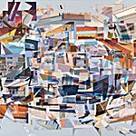 Øystein Tømmerås: Large nr 3 (lang-natt-tog-kort-kupé-mosaic), 2016, 200 x 250 cm