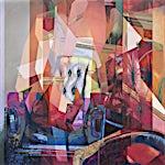 Øystein Tømmerås: Medium nr 1 (redrum-pixel-mix), 2016, 120 x 90 cm