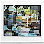 Øystein Tømmerås: Disintegration Grønn (hotel-angelina-mix), 2019, 200 x 240 cm
