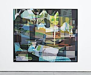 Øystein Tømmerås, Disintegration Grønn (hotel-angelina-mix), 2019, 200 x 240 cm