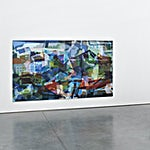 Øystein Tømmerås: Disintegration Blå (noisy-le-grand-mix), 2019, 200 x 240 cm