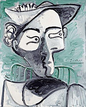 Pablo Picasso, Femme au chapeau assise, buste, 1962, 81 x 65 cm