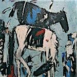 Per Morten Karlsen: Sort og hvit, 2001, 130 x 100 cm