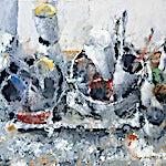 Philippe Cognée: Outils du peintre, 2001, 83 x 122 cm