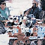 Philippe Cognée: Repas chez Michel, 0000, 98 x 103 cm