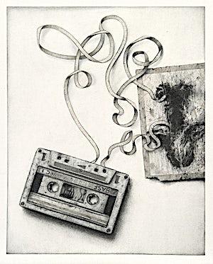 Sverre Malling, Cassette/Yves Klein, 2013, 63 x 55 cm
