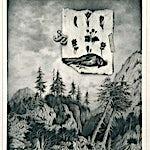 Sverre Malling: Forest/Dead Bird, 2013, 70 x 63 cm
