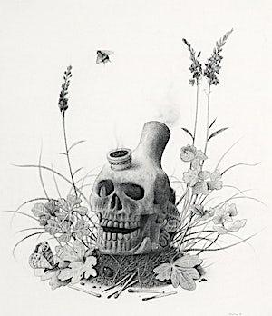 Sverre Malling, Skullbong, 2008, 54 x 36 cm