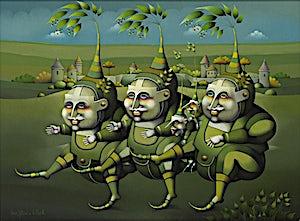 Terje Ythjall, Opptog for grønn glede, 2010, 60 x 81 cm