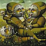 Terje Ythjall: Fritidsaktivitet (Familiebilde ?), 2010, 48 x 60 cm