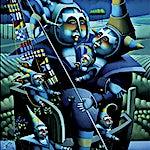 Terje Ythjall: Etter hjemkomsten (Før avreisen) (Fortellinger om den lange reisen), 1998, 110 x 60 cm
