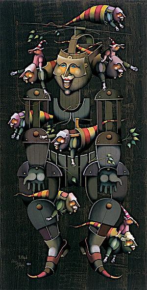 Terje Ythjall, Maskefigur (Det som blir tilbake), 2003, 105 x 55 cm