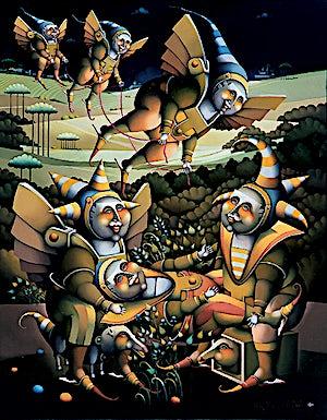 Terje Ythjall, Forberedelse (Lekt avreise), 2001, 100 x 79 cm