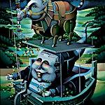 Terje Ythjall: Avskjed (Reisegølge i ensomt landskap), 2001, 100 x 79 cm