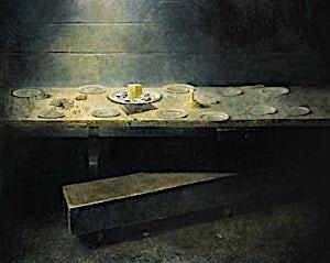 Thor Furulund, Bordet, 2000, 200 x 250 cm