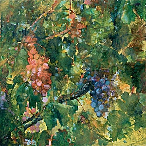 Thor Furulund, Druebilde 4, 2003, 40 x 40 cm