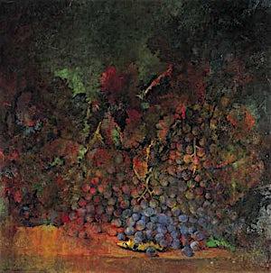 Thor Furulund, Rødt stilleben, 2000, 55 x 55 cm